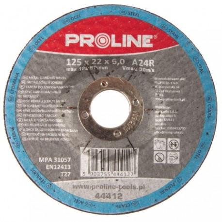 PROFIX TARCZA DO SZLIFOWANIA METALU, T27 , 125x6.0x22A24R PROLINE