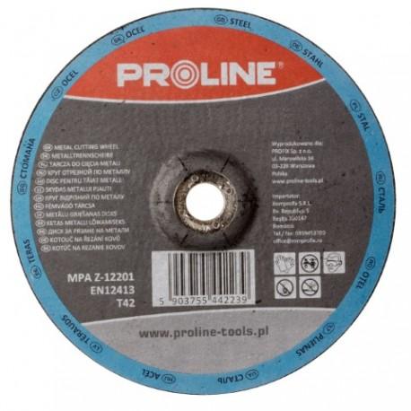 PROFIX TARCZA DO CIĘCIA METALU WYP. T42, 125x2.5x22A36S PROLINE