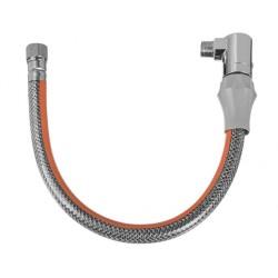INVENA Przewód elastyczny do gazu w osłonie PVC z szybkozłączem 75cm