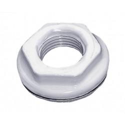 """INVENA Redukcja, korek i uszczelka do grzejnika aluminiowego kolor biały (RAL 9010) 1x1/2"""""""