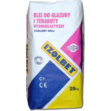 IZOLBET Kgw wz5 Klej do glazury i terakoty elastyczny 25 kg pal 48szt