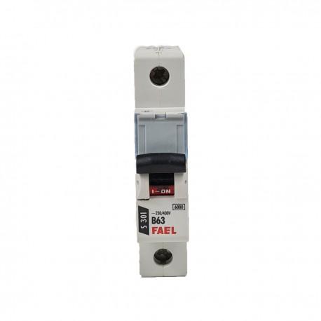 Wyłacznik nadprądowy instalacyjny S301 B63