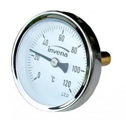 INVENA Termometr podłączenie centralne, tarcza 100mm, 1/2''
