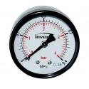INVENA Manometr podłączenie centralne, tarcza 100mm, 1/4''