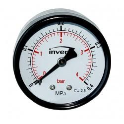 INVENA Manometr podłączenie centralne, tarcza 100mm, 1/4'', 1.6 BAR