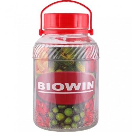 BROWIN Słój 5 L z plastikową pokrywą z r ączką
