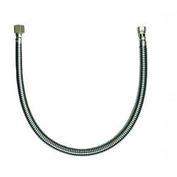 INVENA Elastyczny przewód do gazu z ruchomymi nakrętkami i uszczelką gumową FAMAS 50cm