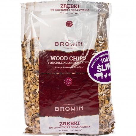 Zrębki do wędzenia i grillowania - 100pro śliwa (450g) BROWIN