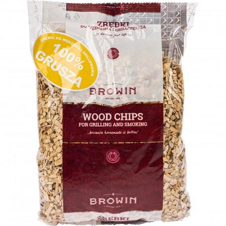 BROWIN Zrębki do wędzenia i grillowania - 100% grusza (450g) +/-10%