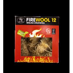 Ekologiczna podpałka do grilla kominka wełna drzewna Fire Family 12 szt.