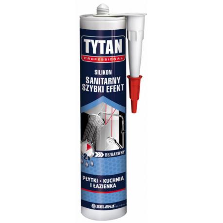TYTAN PROFESSIONAL Silikon Sanitarny Szy bki Efekt 280 ml bezbarwny PL