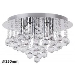 Plafoniera Corinna lampa sufitowa E14 5x40W chrom ELEGANCKA
