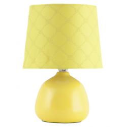 Lampka nocna ceramiczna Ellie E14 40W żólta