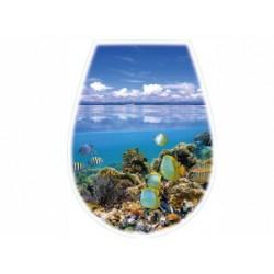 BISK DESKA WC LILIA FOTO OCEAN