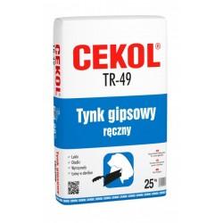 CEKOL TR-49 25KG LEKKI TYNK GIPSOWY RĘCZNY