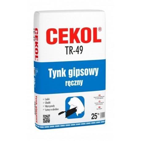 CEKOL TR-49 25 KG LEKKI TYNK GIPSOWY RĘC
