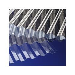GUTTA Płyta PVC SINUS 200x90 przezroczysta
