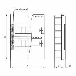 ELEKTRO-PLAST Rozdzielnica podtynkowa SRp-3x18 (54) (N+PE)