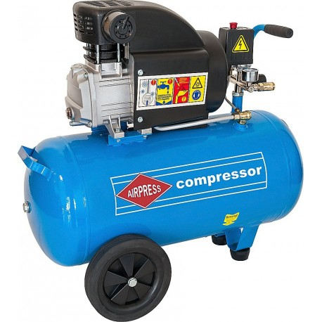 AIRPRESS Kompresor olejowy HL275-50 50l 8bar 2000W 275l/min - 36856