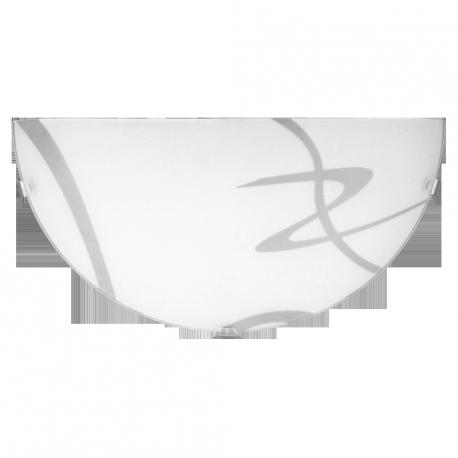 RABALUX 1817 Półplafon Soley E27 1x60 IP 20 300mm | bialy- przez