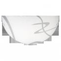 Półplafon Soley, E27, 1x 60W, IP20, 300mm, biały-przeźroczysty, RABALUX 1817