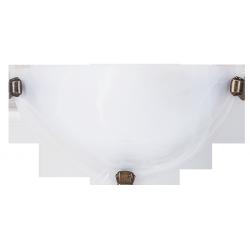 Półplafon Alabastro, E27, 1x 60W, biało-brązowy, RABALUX 3003