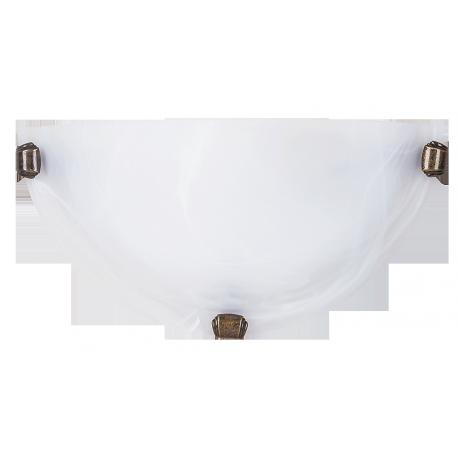 RABALUX 3003 Półplafon Alabastro E27/1x6 0W biały | /brąz