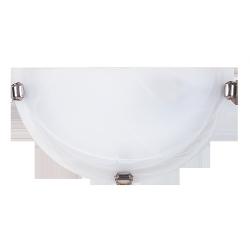 Półplafon Alabastro, E27, 1x 60W, biały-chrom, RABALUX 3002