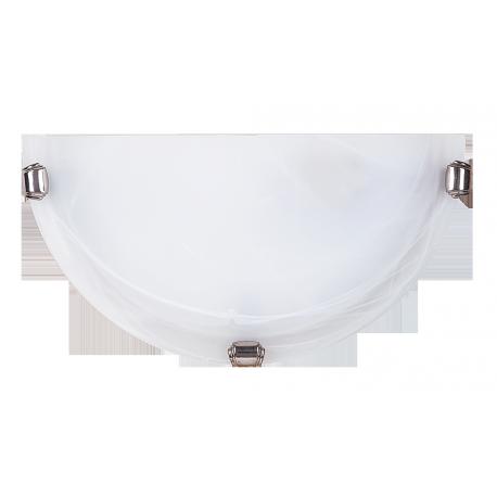 RABALUX 3002 Półplafon Alabastro E27/1x6 0W biały | /chrom