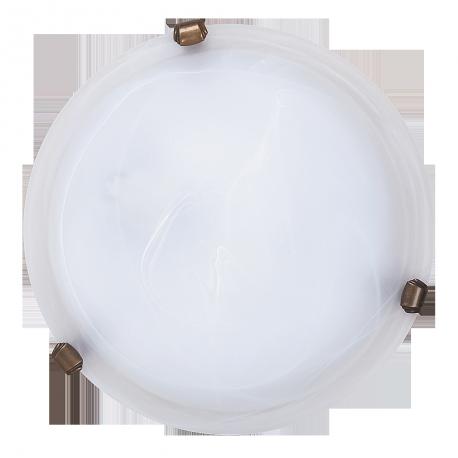 RABALUX 3203 Plafoniera Alabastro D30 E2 7/1x60W | biały/brąz
