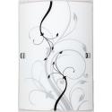 Półplafon Elina, E27, 1x 60W, czarno-biały, RABALUX 3691