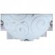 RABALUX 3851 Półplafon Harmony lux E27/6 0W D30 c | hrom/biały