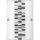 RABALUX 3931 Plafon Domino E27/1x60W cza rno-biał   -szary