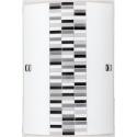Plafon Domino, E27, 1x 60W, czarno-biało-szary, RABALUX 3931
