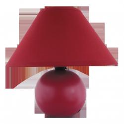 Lampka ceramiczna Ariel, E14, 1x 40W, bordowa, RABALUX 4906