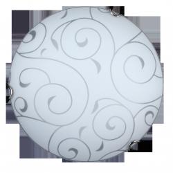 Plafoniera Harmony lux, E27, 1x 60W, D30, chrom/biały, RABALUX 3852