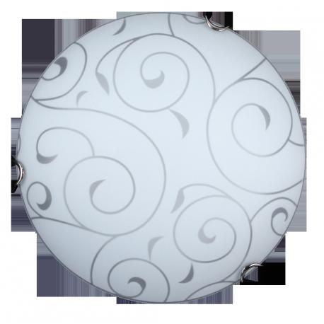 RABALUX 3852 Plafoniera Harmony lux E27/ 60W D30 | chrom/biały