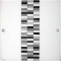 Plafon Domino, E27, 1x 60W, czarno-biało-szary, RABALUX 3932