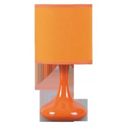Lampka stołowa Bombai, E14, 1 x40W, pomarańczowa, RABALUX 4243