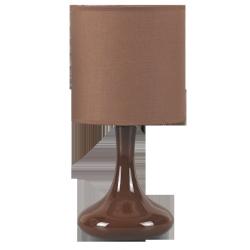 Lampka stołowa Bombai ceramiczna, E14, 1x 40W, brązowa, RABALUX 4242