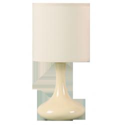 Lampka stołowa Bombai ceramiczna, E14, 1x 40W, biała, RABALUX 4241