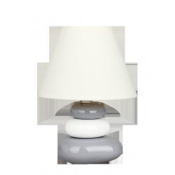Lampka stołowa Salem, E14, 1x 40W, biało-srebrna, RABALUX 4948
