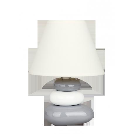 RABALUX 4948 Lampka stołowa Salem E14/1x 40W biał | o-srebrna