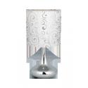 Lampka stołowa Bombai , E14, 1x 40W, biała wzór Harmony, RABALUX 4240