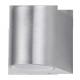 RABALUX 8020 Kinkiet ogrodowy Chile doln y GU10 3 | 5W, srebrny