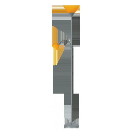 RABALUX 4026 Lampa podłogowa Action sreb rna/poma | rańcz 2 ramien.