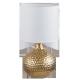 RABALUX 4977 Lampka stołowa Rozin E14/1x 40W złot   a/biała