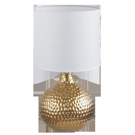 RABALUX 4977 Lampka stołowa Rozin E14/1x 40W złot | a/biała