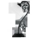 Lampka stołowa Athen, E14, 1x 40W, czarna matowa, RABALUX 7812