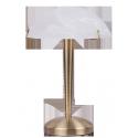 Lampka biurkowa Lucy, E14, 1x 40W, brąz, RABALUX 4990